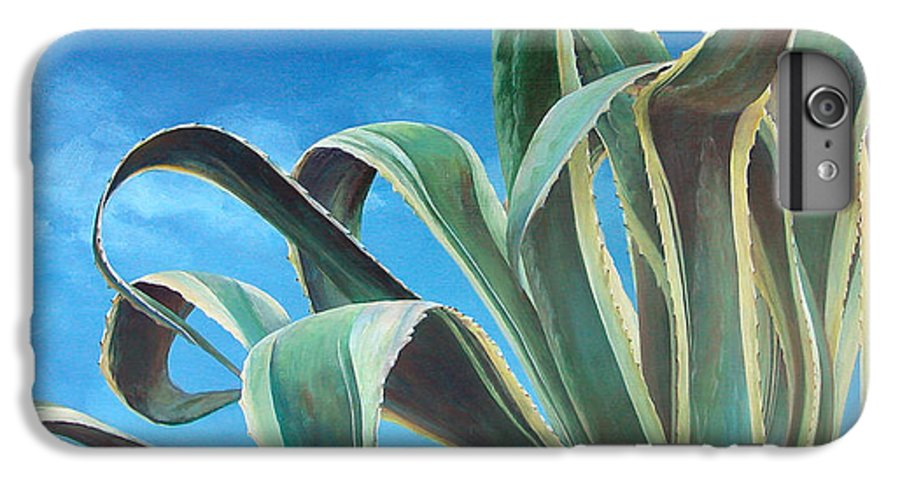 Floral Painting IPhone 6s Plus Case featuring the painting Agave by Muriel Dolemieux