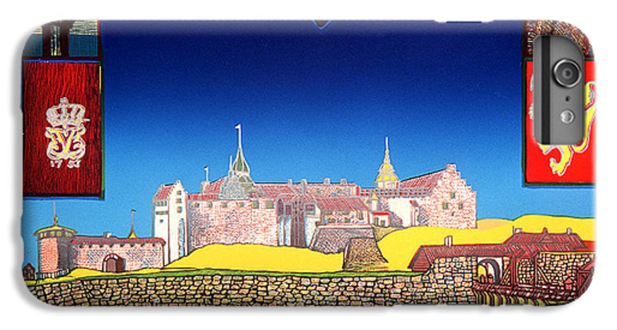 Historic IPhone 6s Plus Case featuring the mixed media Akershus Festning -akershusfortress by Jarle Rosseland