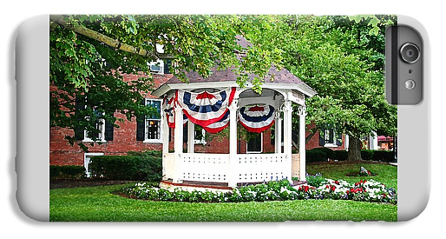 Gazebo IPhone 6s Plus Case featuring the photograph American Gazebo by Margie Wildblood