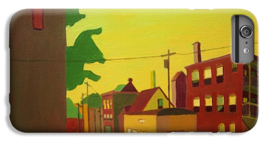 Jamaica Plain IPhone 6s Plus Case featuring the painting Amory Street Jamaica Plain by Debra Bretton Robinson