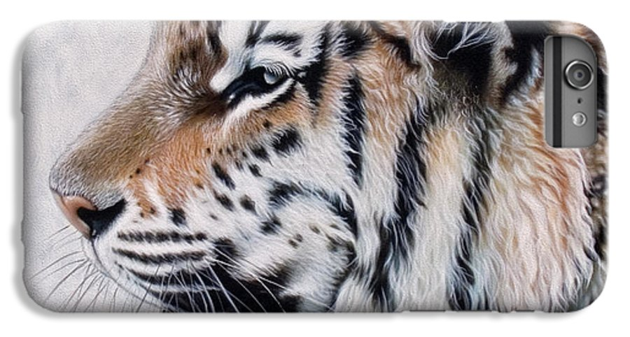 Acrylic IPhone 6s Plus Case featuring the painting Amur by Sandi Baker