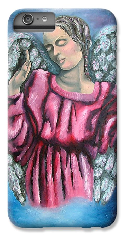 Angel IPhone 6s Plus Case featuring the painting Angel Of Hope by Elizabeth Lisy Figueroa