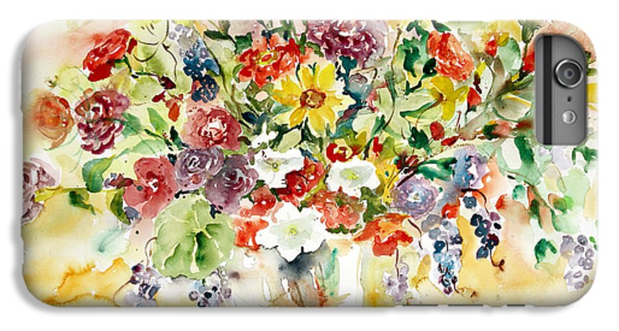 Watercolor IPhone 6s Plus Case featuring the painting Arrangement IIi by Alexandra Maria Ethlyn Cheshire