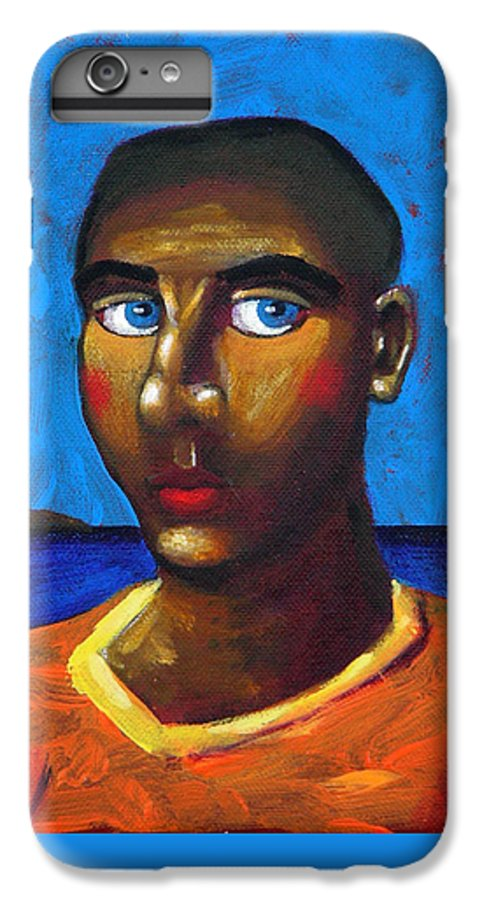 Arsonist IPhone 6s Plus Case featuring the painting Arsonist by Dimitris Milionis