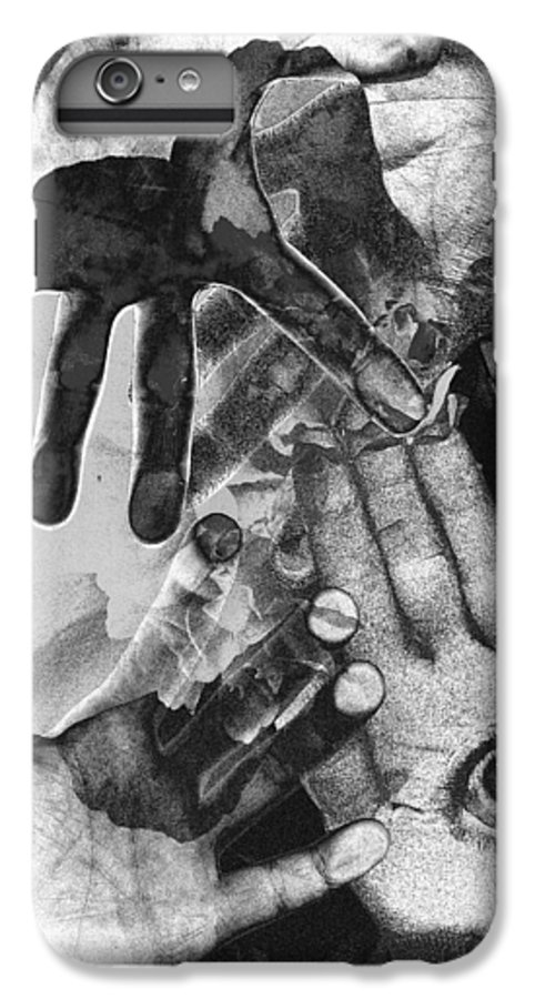 Hands IPhone 6s Plus Case featuring the photograph Artist's Hands by Nancy Mueller