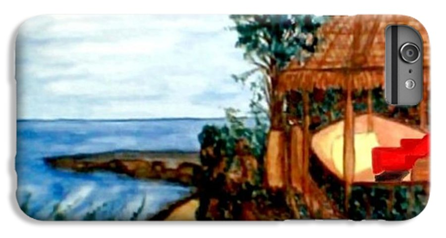 Beaches IPhone 6s Plus Case featuring the painting At Kuta Beach by Brenda L Spencer