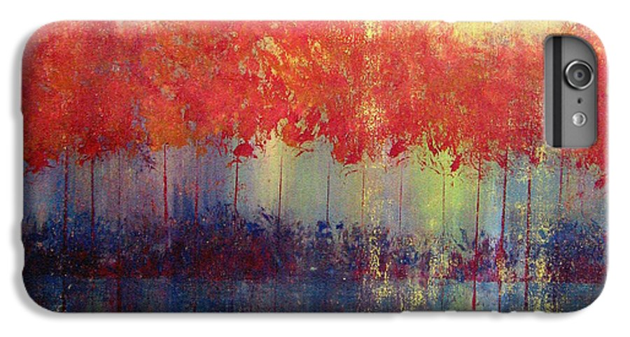 Abstract IPhone 6s Plus Case featuring the painting Autumn Bleed by Ruth Palmer