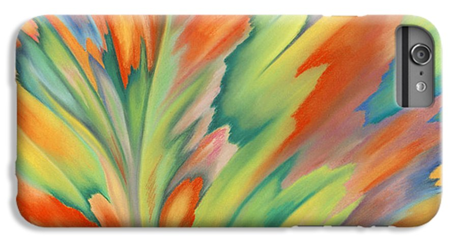 Abstract IPhone 6s Plus Case featuring the painting Autumn Flame by Lucy Arnold