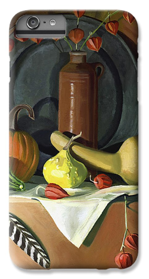 Still Life IPhone 6s Plus Case featuring the painting Autumn Still Life by Nancy Griswold