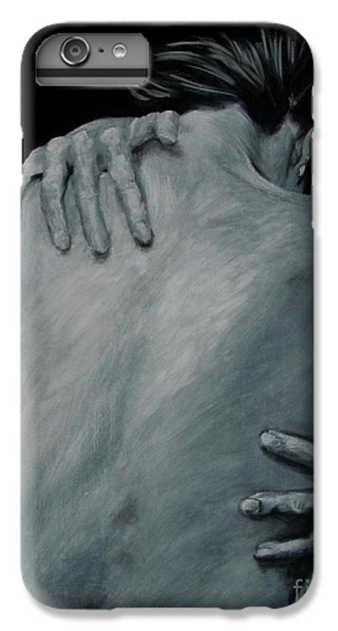 Nude IPhone 6s Plus Case featuring the painting Back Of Naked Woman by Jindra Noewi