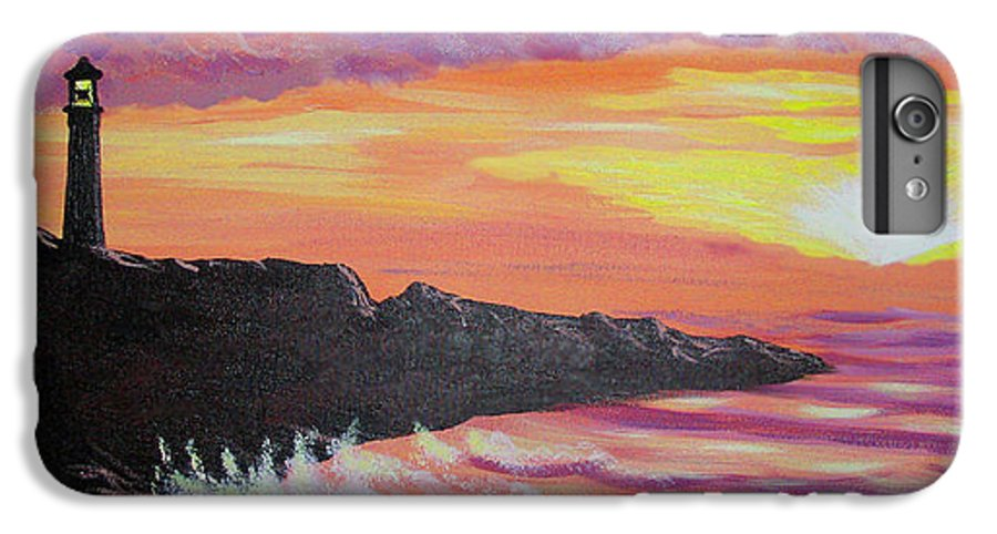 Seascape IPhone 6s Plus Case featuring the painting Bahia At Sunset by Marco Morales