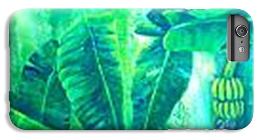 IPhone 6s Plus Case featuring the painting Banan Leaves 5 by Carol P Kingsley
