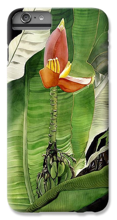 Flower IPhone 6s Plus Case featuring the painting Banana Blossom by Alfred Ng