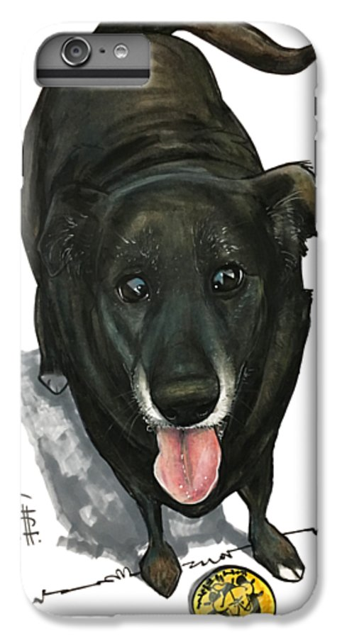 Pet Portrait IPhone 6s Plus Case featuring the drawing Bartlett 3021 by John LaFree
