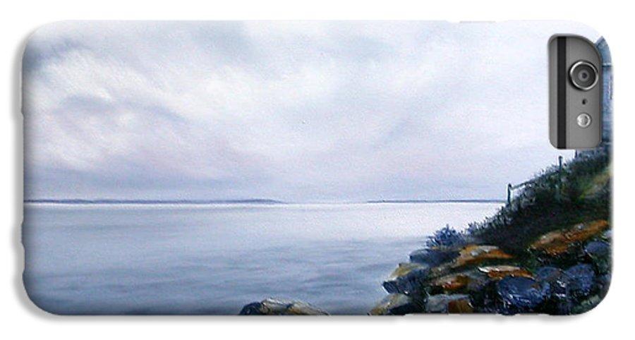 Ocean IPhone 6s Plus Case featuring the painting Bass Harbor Maine by Brenda Ellis Sauro