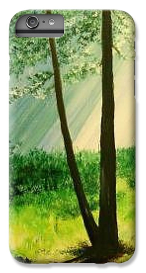 Light IPhone 6s Plus Case featuring the painting Bathed In Light by Lizzy Forrester