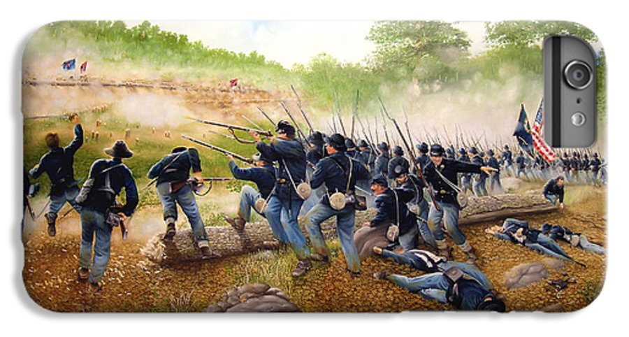 Civil War IPhone 6s Plus Case featuring the painting Battle Of Utoy Creek by Marc Stewart