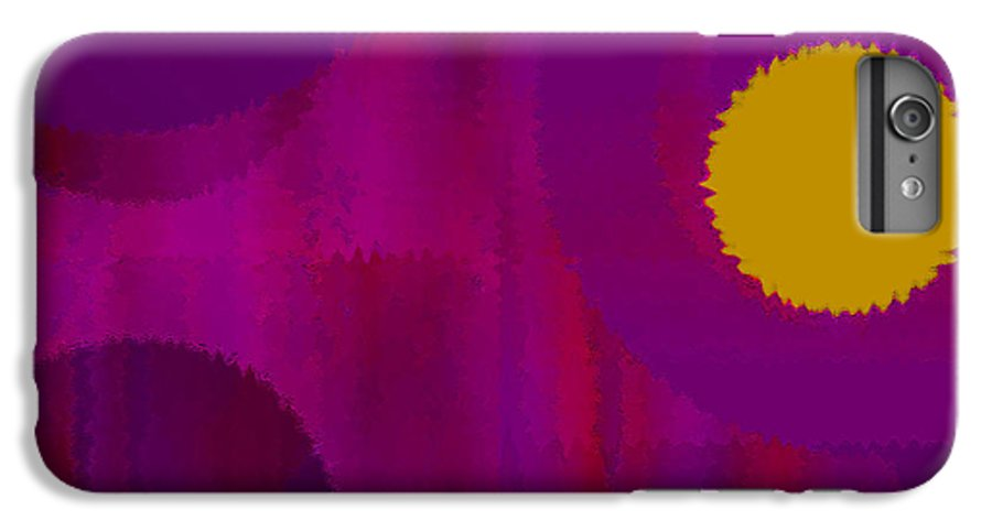 Abstract IPhone 6s Plus Case featuring the digital art Be Happy II by Ruth Palmer