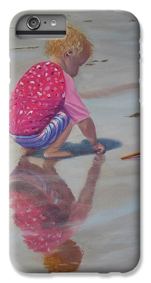 Baby IPhone 6s Plus Case featuring the painting Beach Baby by Lea Novak