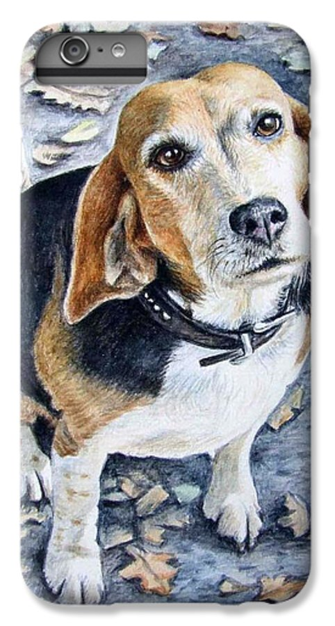 Dog IPhone 6s Plus Case featuring the painting Beagle Nanni by Nicole Zeug