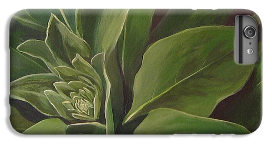 Closeup Of Mullein Plant IPhone 6s Plus Case featuring the painting Beautiful Stranger by Hunter Jay