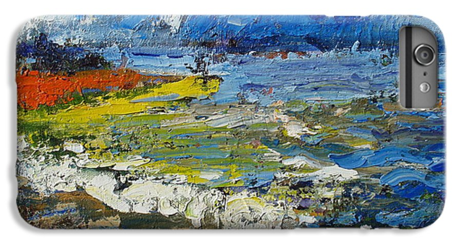 Beach Paintings IPhone 6s Plus Case featuring the painting Before Storm by Seon-Jeong Kim