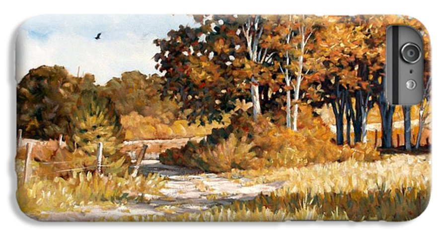 Landscape IPhone 6s Plus Case featuring the painting Bend In The Road by Kevin Lawrence Leveque