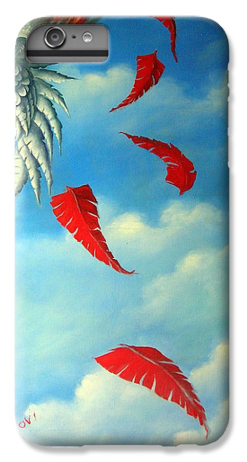 Surreal IPhone 6s Plus Case featuring the painting Bird On Fire by Valerie Vescovi