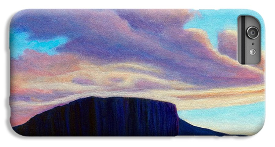 Landscape IPhone 6s Plus Case featuring the painting Black Mesa Sunset by Brian Commerford