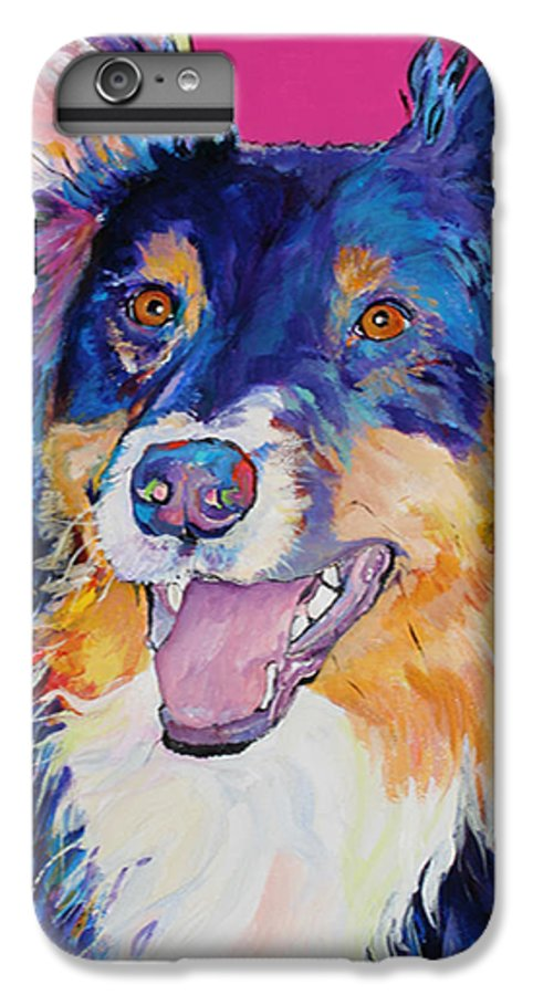 Dog IPhone 6s Plus Case featuring the painting Blackjack by Pat Saunders-White