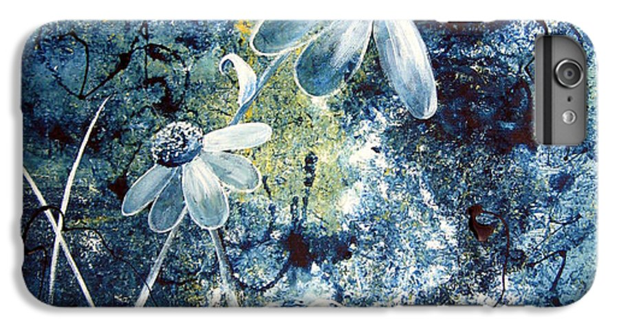 Abstract IPhone 6s Plus Case featuring the painting Blue Beauties by Ruth Palmer
