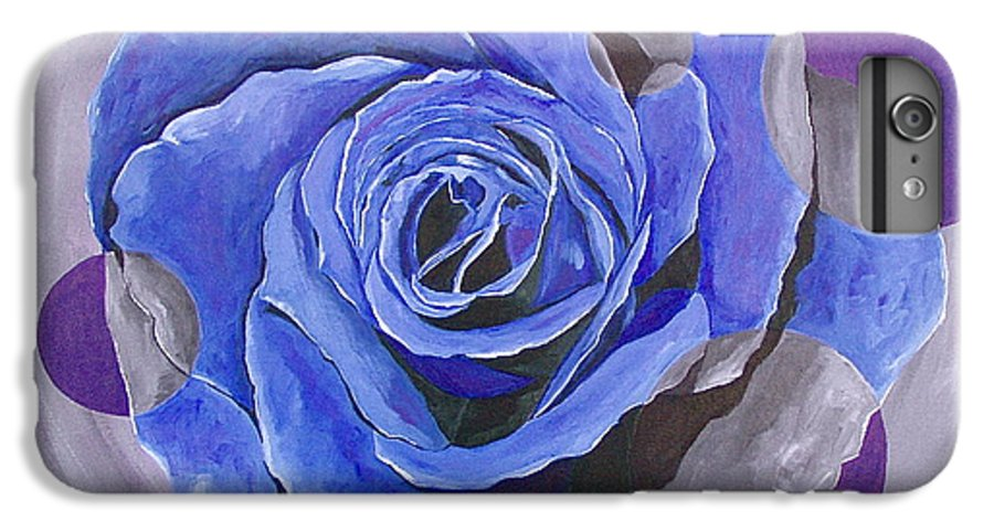 Acrylic IPhone 6s Plus Case featuring the painting Blue Ice by Herschel Fall
