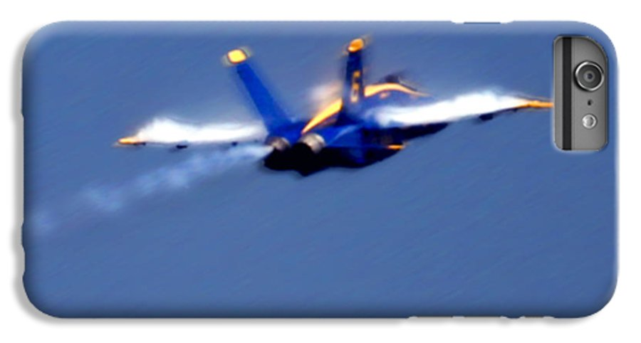 Blue Angles IPhone 6s Plus Case featuring the photograph Blue Solo by Larry Keahey