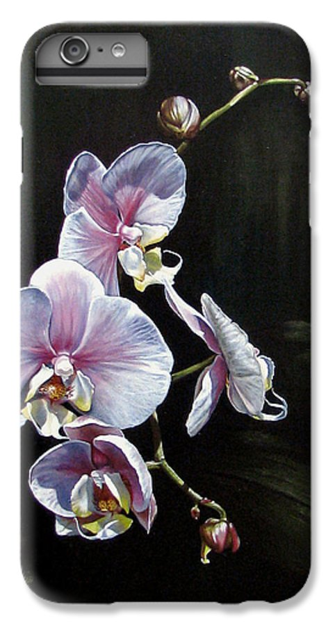 Orchid IPhone 6s Plus Case featuring the painting Blushing by Joan Garcia