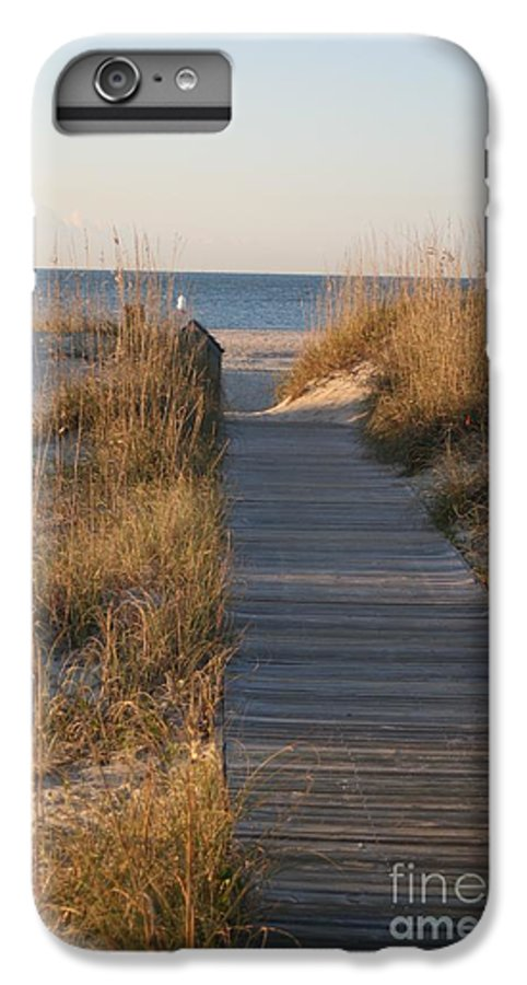 Boardwalk IPhone 6s Plus Case featuring the photograph Boardwalk To The Beach by Nadine Rippelmeyer