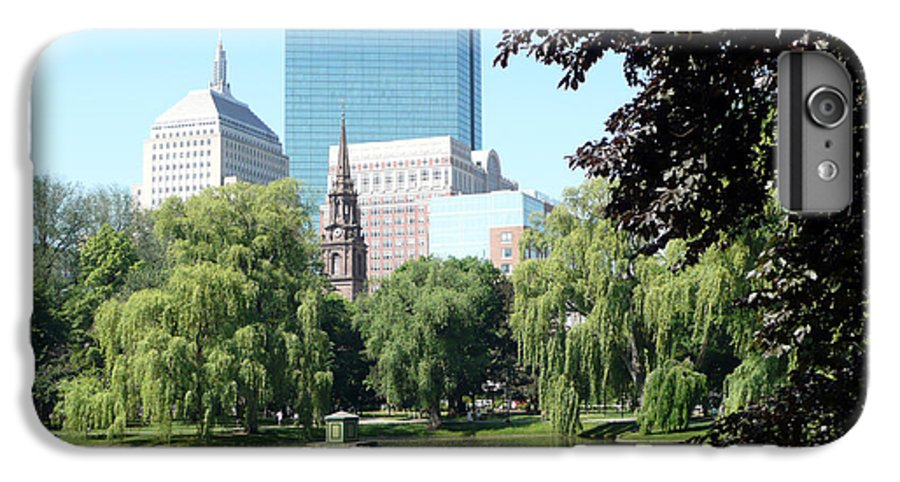 Garden IPhone 6s Plus Case featuring the photograph Boston Public Garden by Kathy Schumann