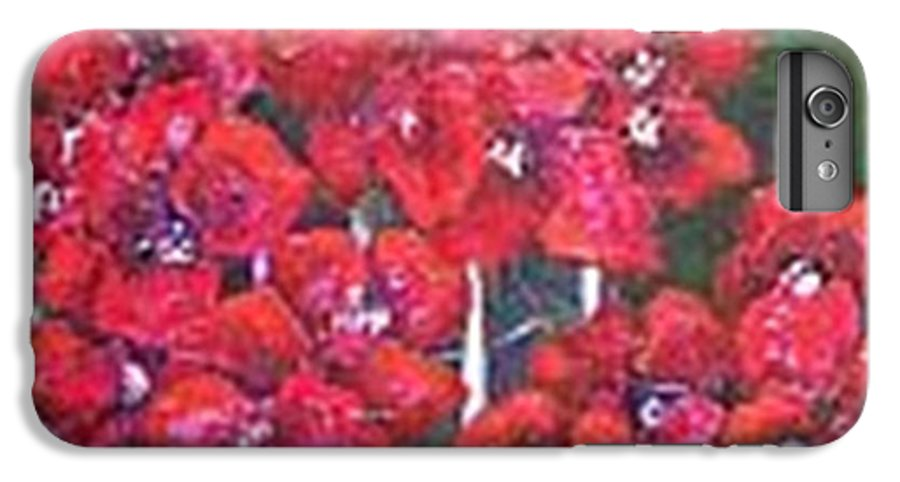 IPhone 6s Plus Case featuring the painting Bounganvillia On Fence by Carol P Kingsley