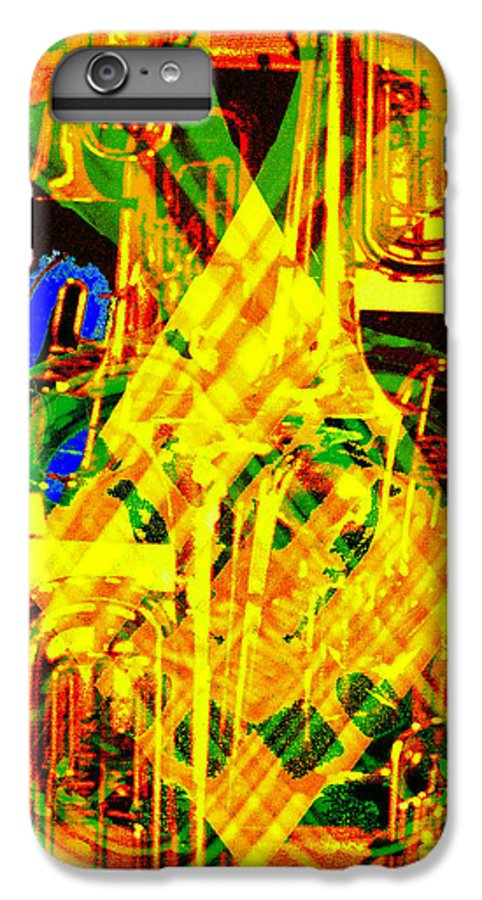 Festive IPhone 6s Plus Case featuring the digital art Brass Attack by Seth Weaver