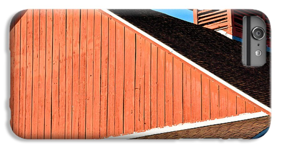 Americana IPhone 6s Plus Case featuring the photograph Bright Red Barn by Marilyn Hunt
