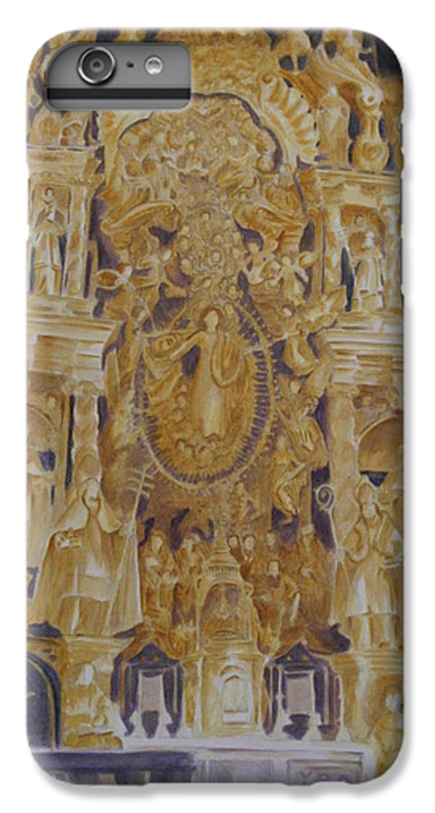 Saints IPhone 6s Plus Case featuring the painting Builders' Guild by Nik Helbig