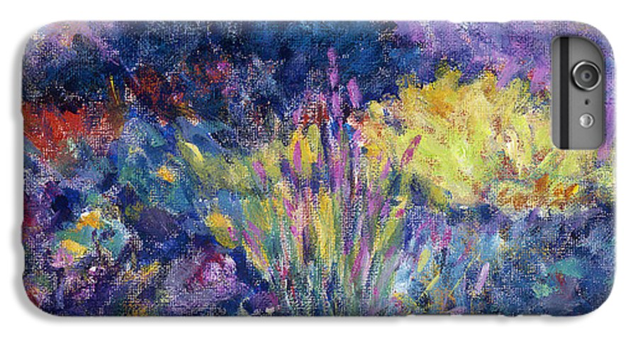 Impressionism IPhone 6s Plus Case featuring the painting Burst Of Color-last Night In Monets Gardens by Tara Moorman