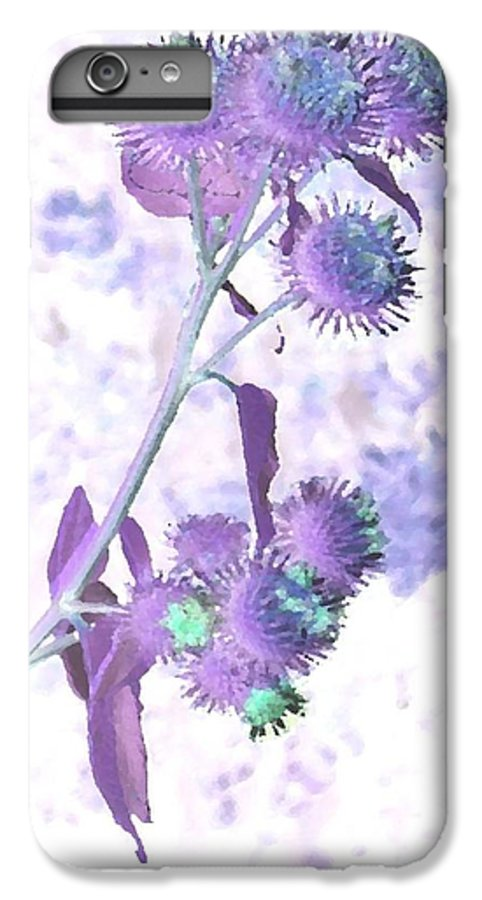 Plant IPhone 6s Plus Case featuring the digital art Bush Of Burdock by Dr Loifer Vladimir