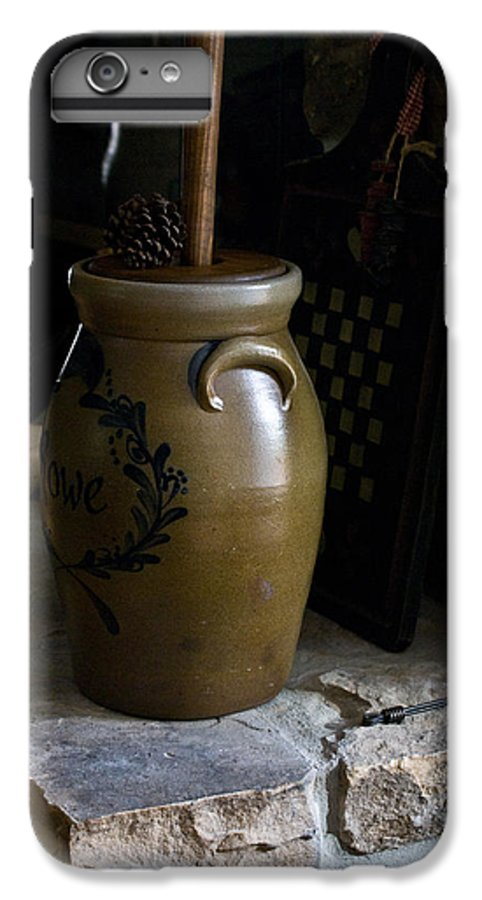 Butter IPhone 6s Plus Case featuring the photograph Butter Churn On Hearth Still Life by Douglas Barnett