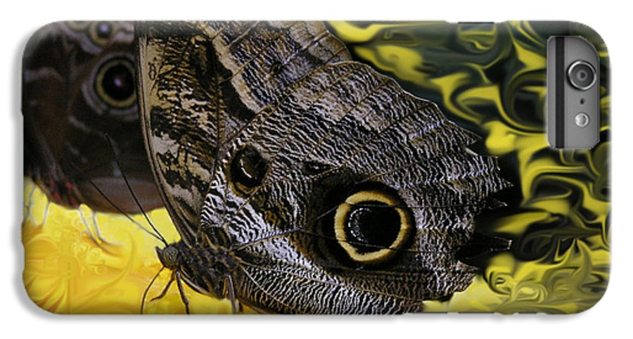 Butterfly IPhone 6s Plus Case featuring the photograph Butterfly Reflections by Louise Magno