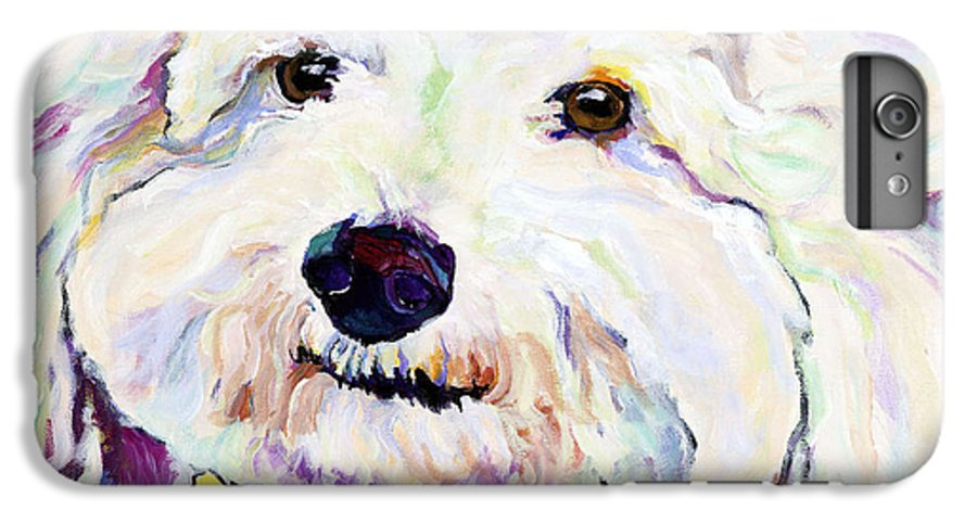 Bischon IPhone 6s Plus Case featuring the painting Buttons  by Pat Saunders-White