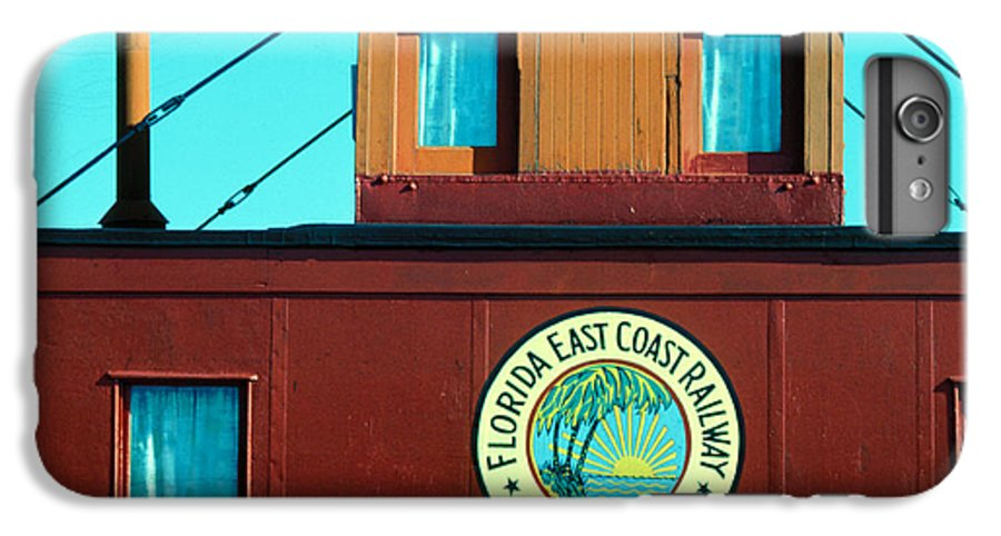 Florida Keys Train Railroad IPhone 6s Plus Case featuring the photograph Caboose by Carl Purcell