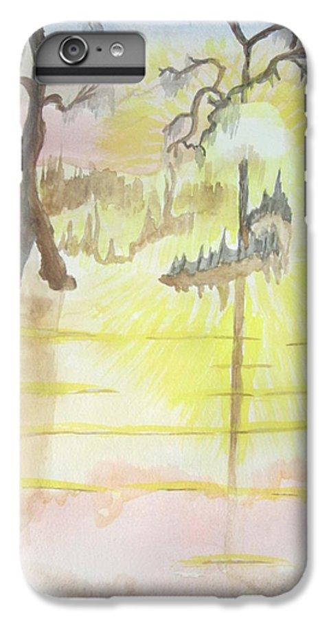 Landscape Watercolor IPhone 6s Plus Case featuring the painting Cajun Sunrise by Warren Thompson