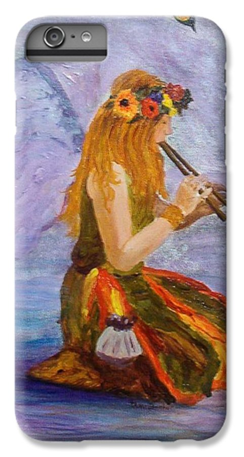 IPhone 6s Plus Case featuring the painting Calling The Wolf Spirit by Tami Booher