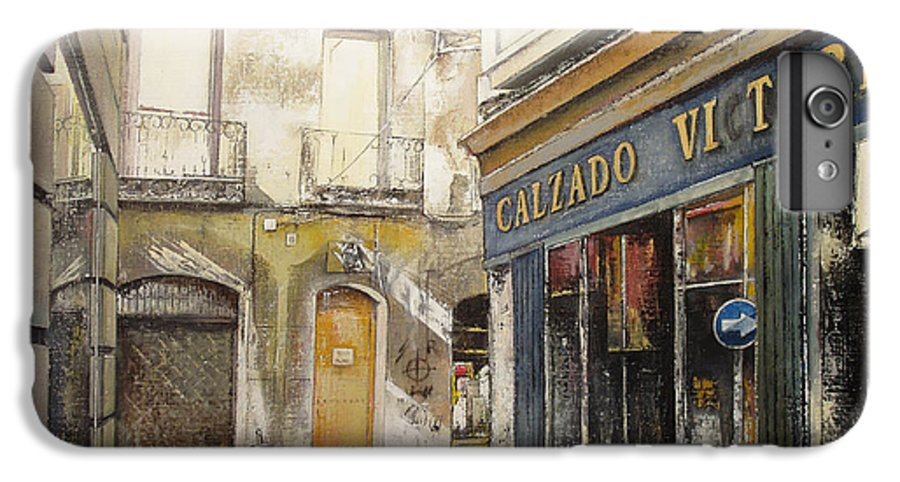 Calzados IPhone 6s Plus Case featuring the painting Calzados Victoria-leon by Tomas Castano