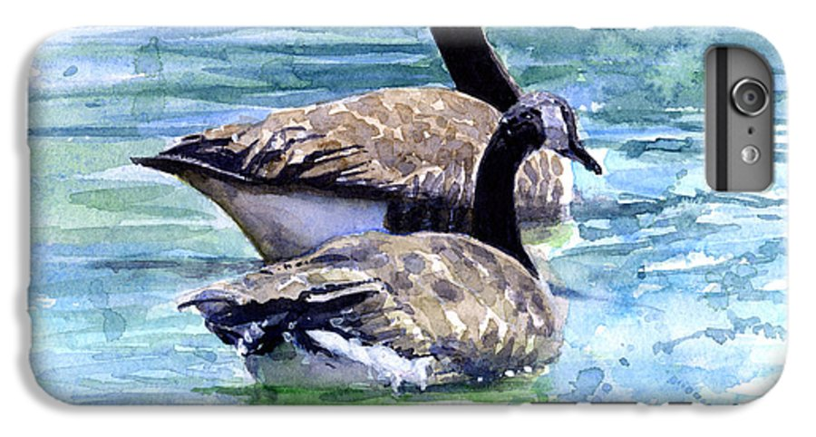 Canada IPhone 6s Plus Case featuring the painting Canada Geese by John D Benson